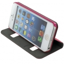 Flip Cover iPhone 5S Rosa Puloka ORIGINALE